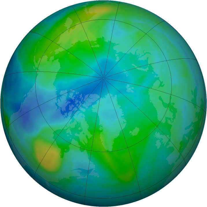 Arctic ozone map for 12 October 2006