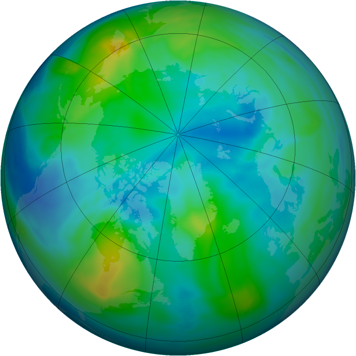 Arctic ozone map for 14 October 2006