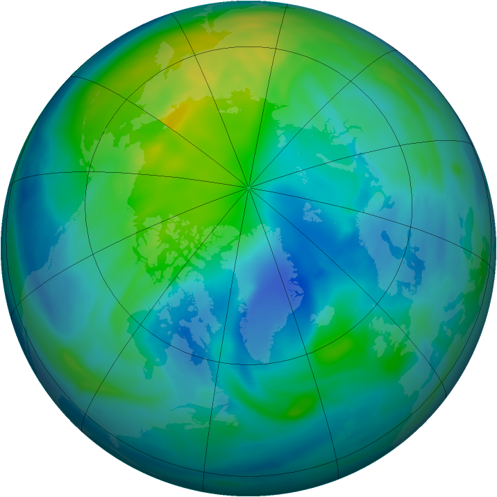 Arctic ozone map for 19 October 2006