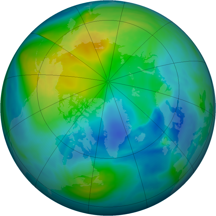 Arctic ozone map for 26 October 2006
