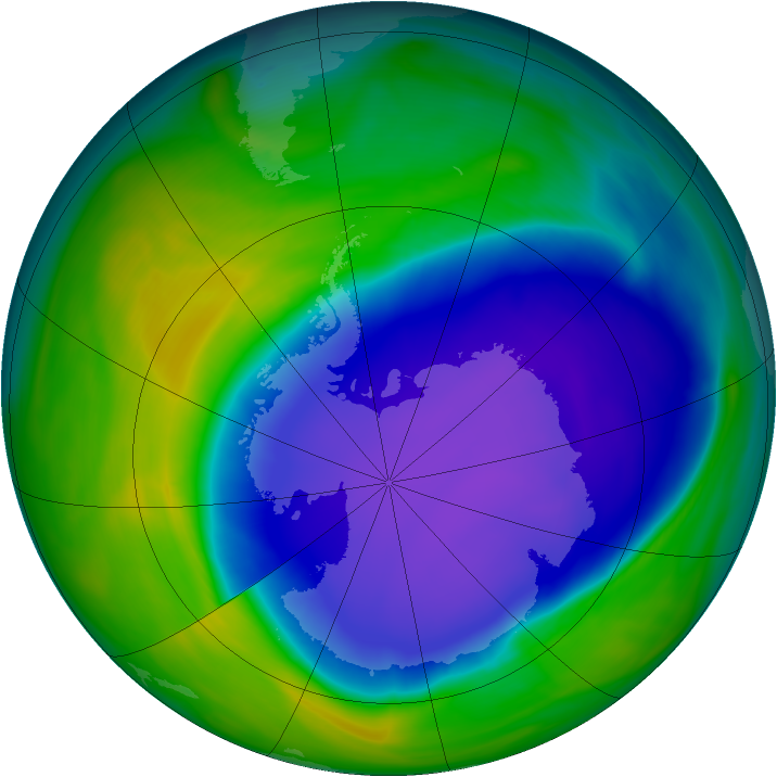 Antarctic ozone map for 26 October 2006