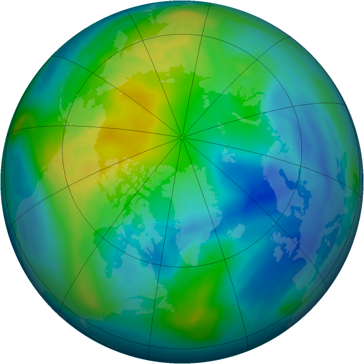 Arctic ozone map for 28 October 2006