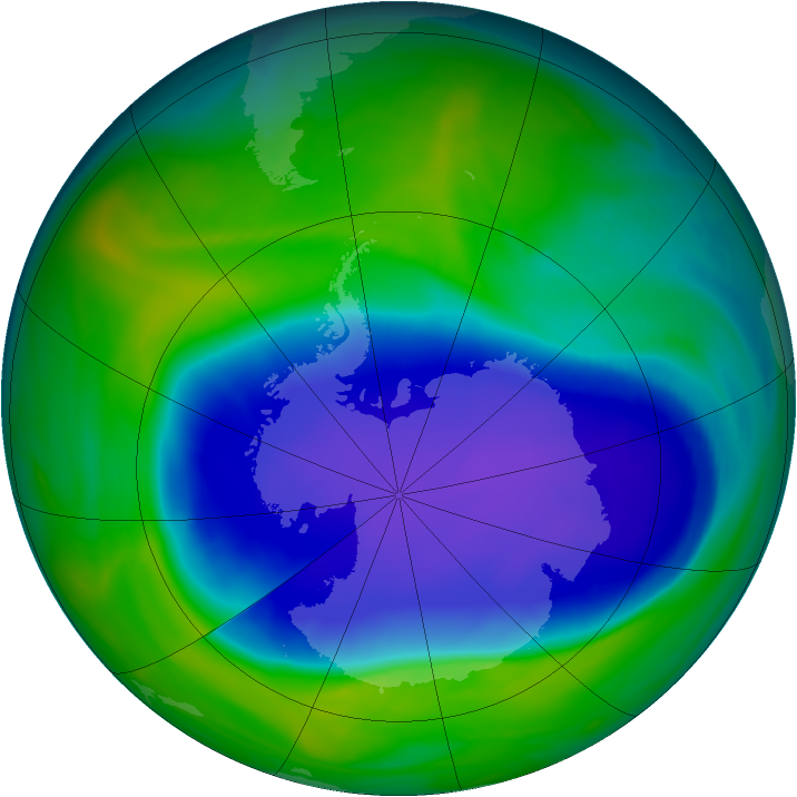 Antarctic ozone map for 10 November 2006