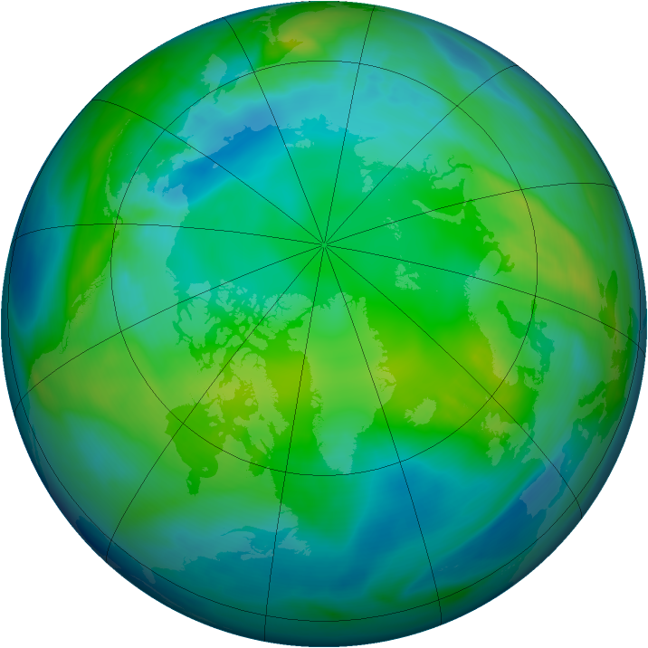 Arctic ozone map for 11 November 2006