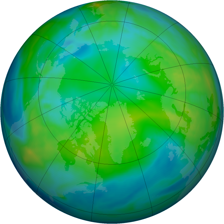 Arctic ozone map for 12 November 2006