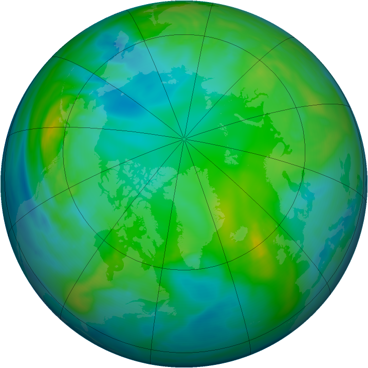 Arctic ozone map for 16 November 2006