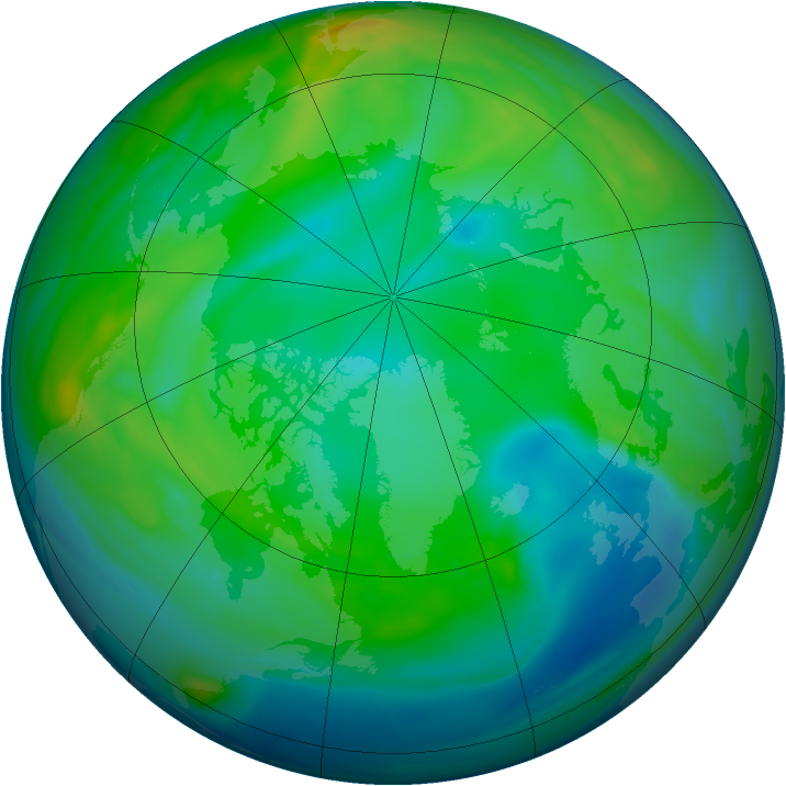 Arctic ozone map for 22 November 2006