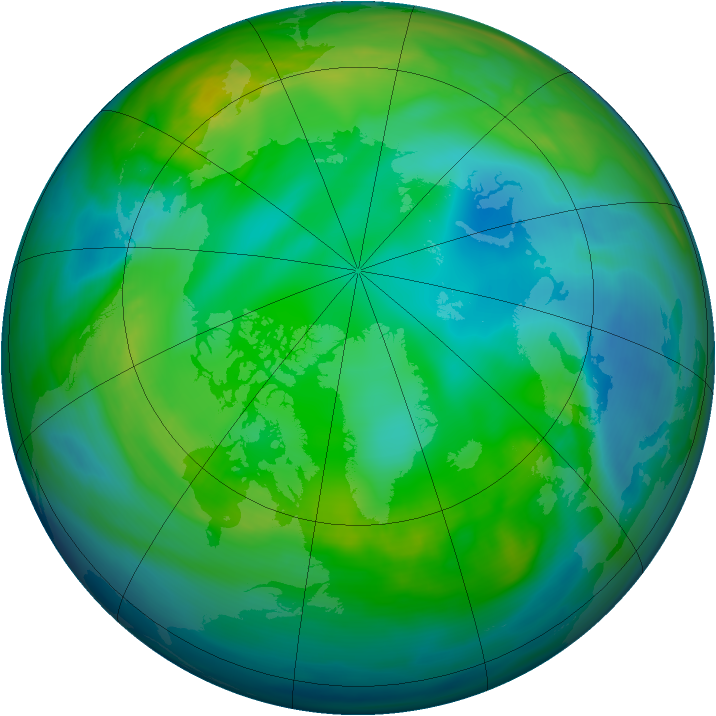 Arctic ozone map for 26 November 2006
