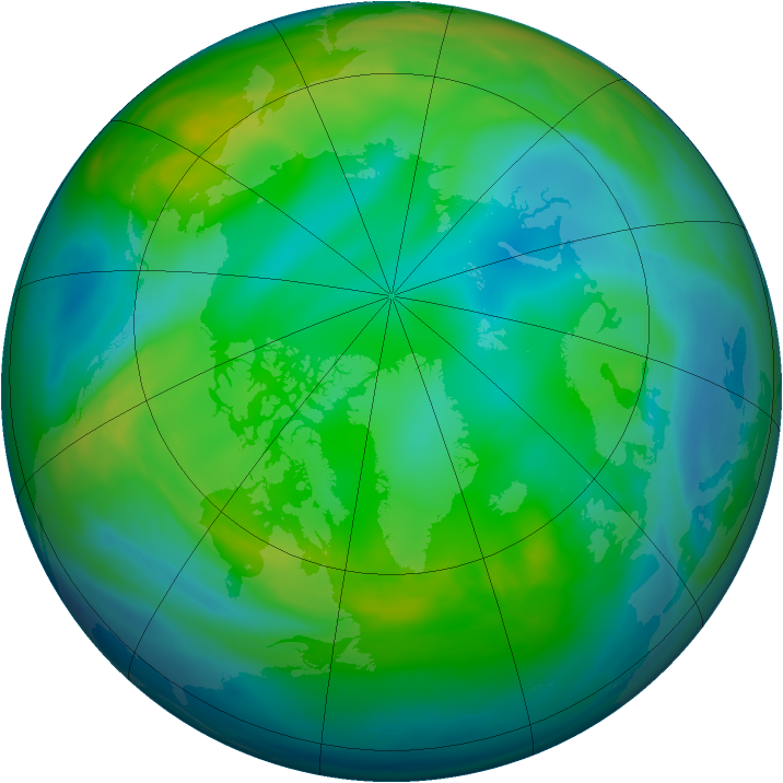 Arctic ozone map for 27 November 2006