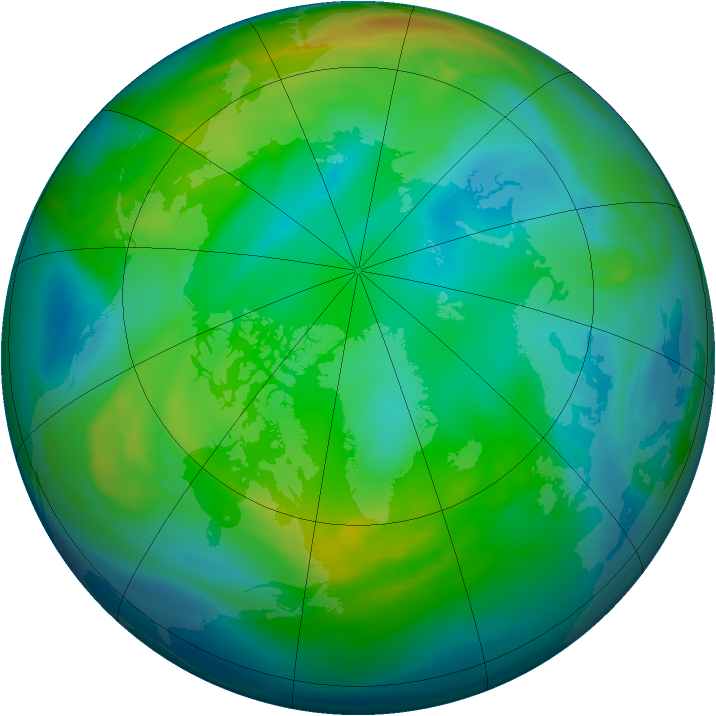 Arctic ozone map for 28 November 2006