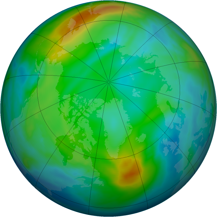Arctic ozone map for 30 November 2006