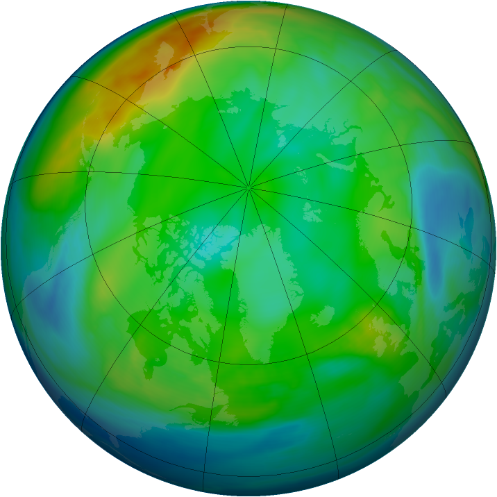 Arctic ozone map for 03 December 2006