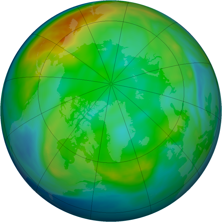 Arctic ozone map for 04 December 2006