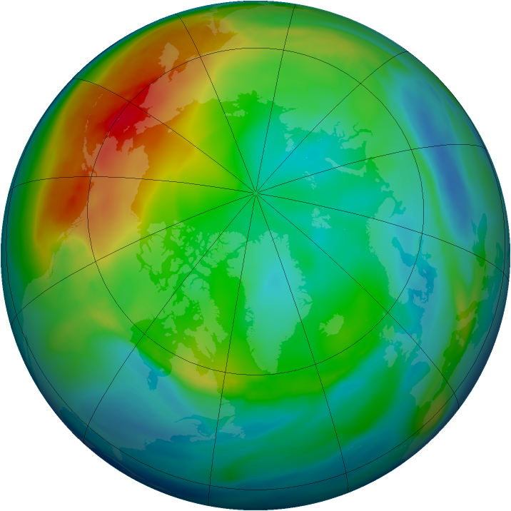 Arctic ozone map for 11 December 2006