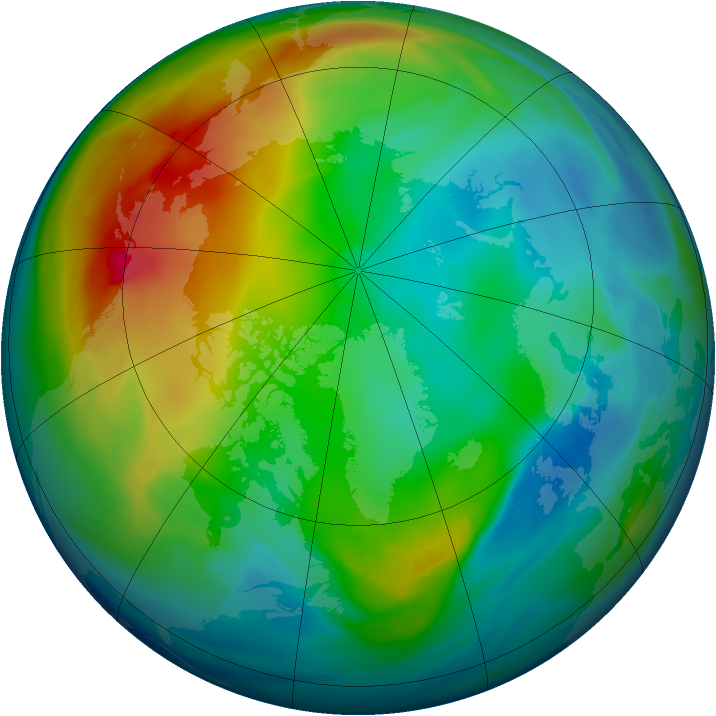 Arctic ozone map for 13 December 2006