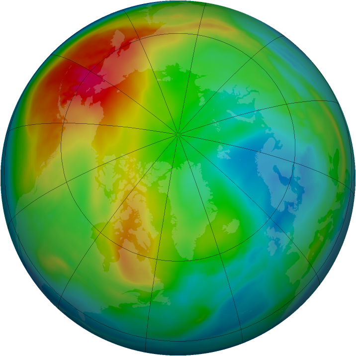 Arctic ozone map for 21 December 2006