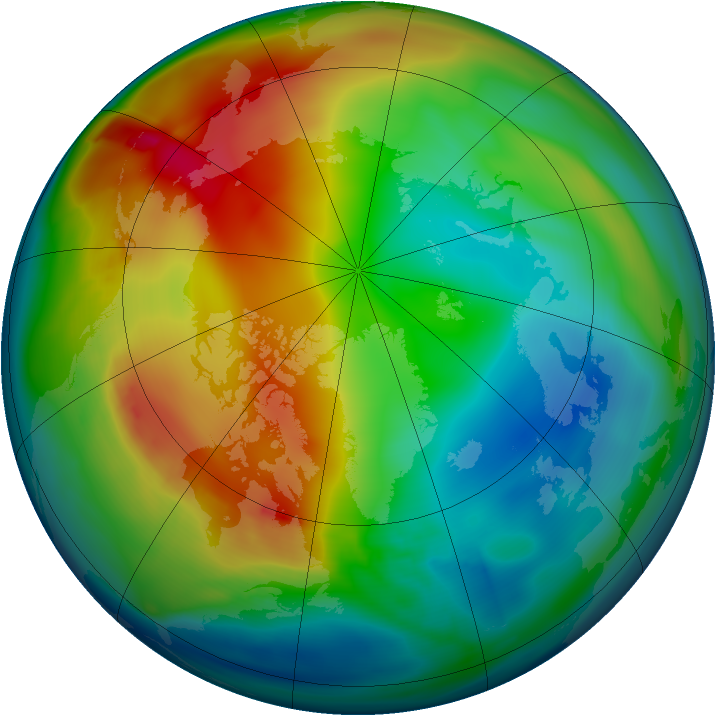 Arctic ozone map for 26 December 2006