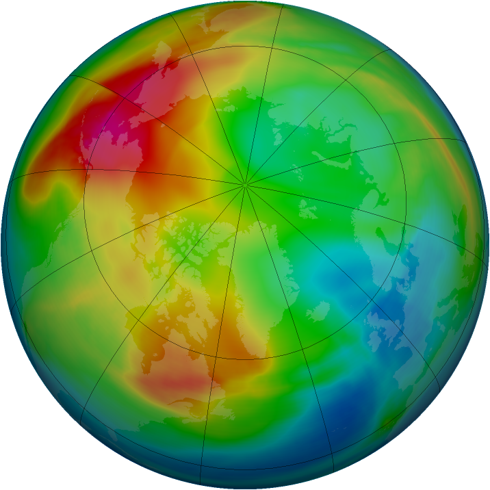 Arctic ozone map for 28 December 2006