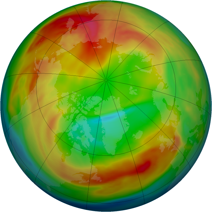 Arctic ozone map for 10 February 2007