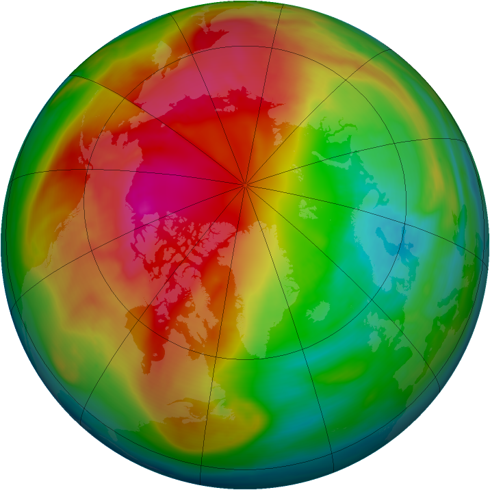 Arctic ozone map for 24 February 2007