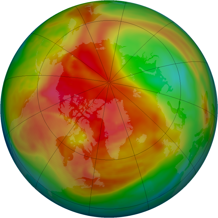 Arctic ozone map for 28 February 2007