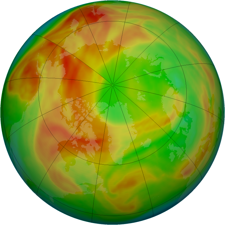 Arctic ozone map for 05 April 2007