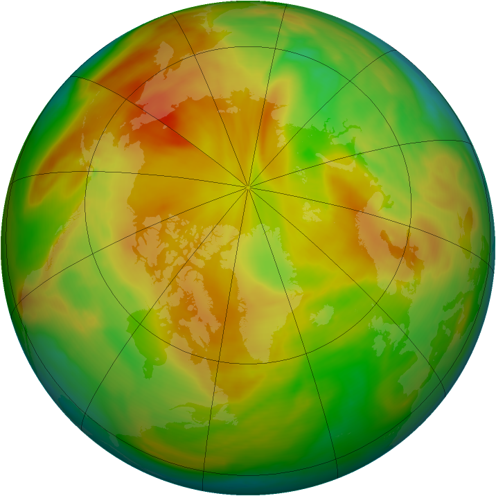 Arctic ozone map for 20 April 2007