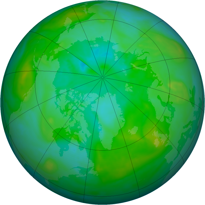 Arctic ozone map for 26 July 2007