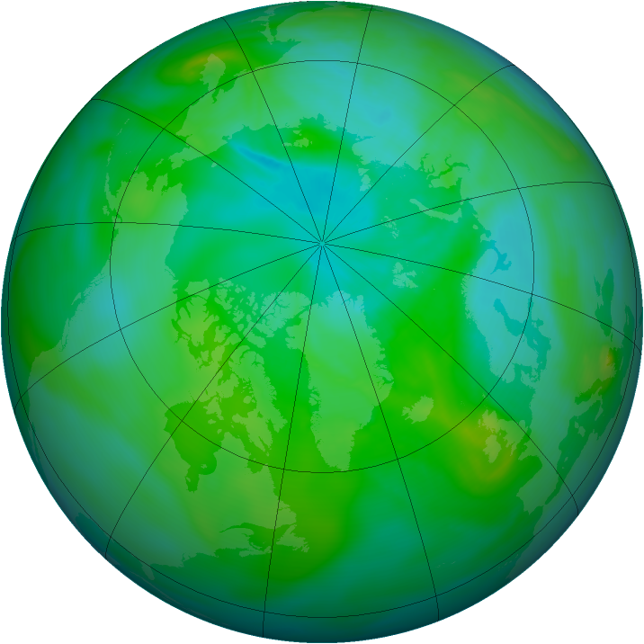 Arctic ozone map for 06 August 2007