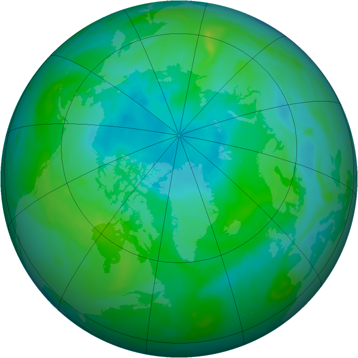 Arctic ozone map for 26 August 2007