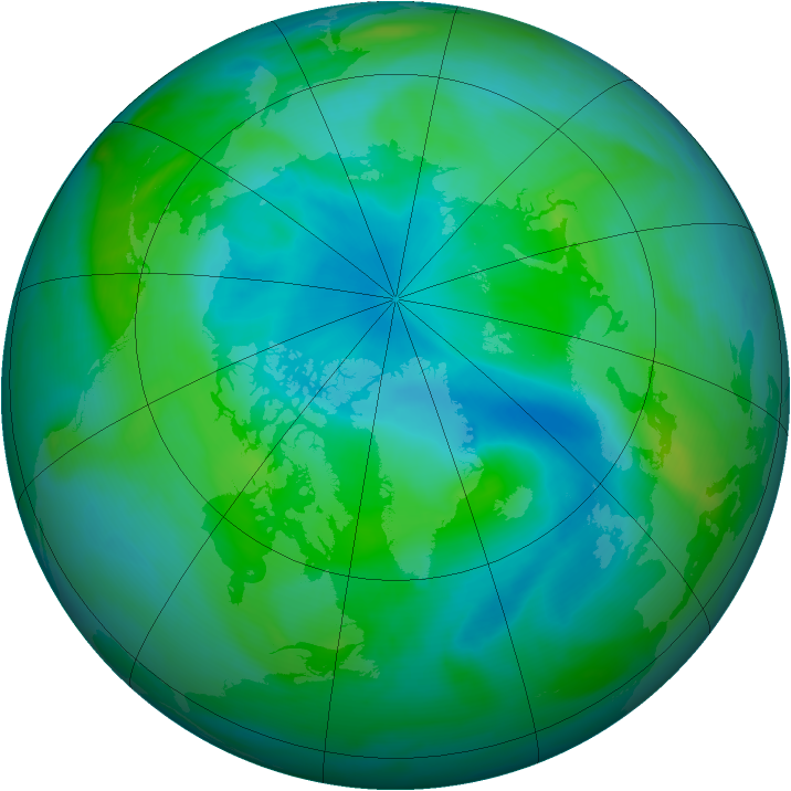 Arctic ozone map for 04 September 2007