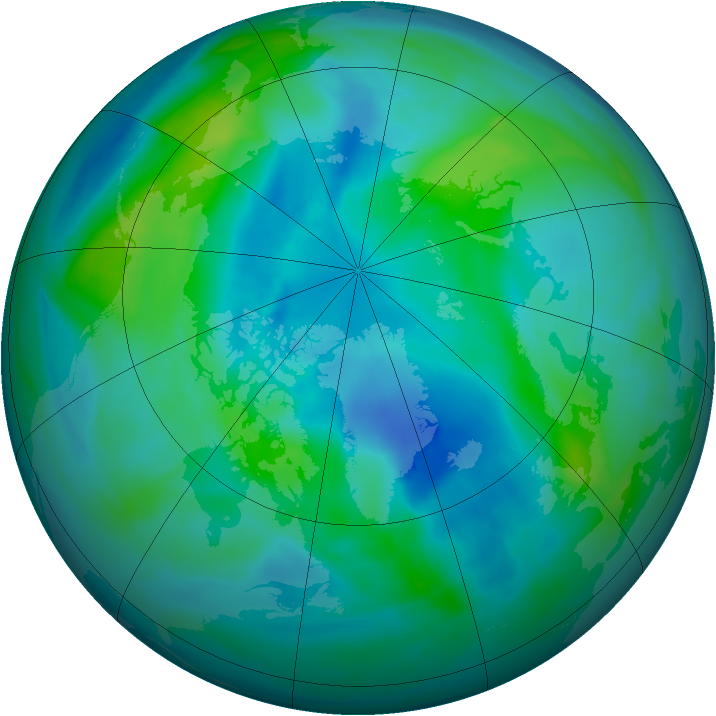 Arctic ozone map for 26 September 2007