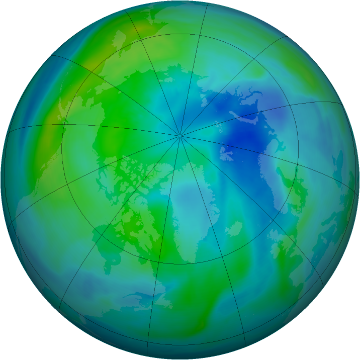 Arctic ozone map for 02 October 2007