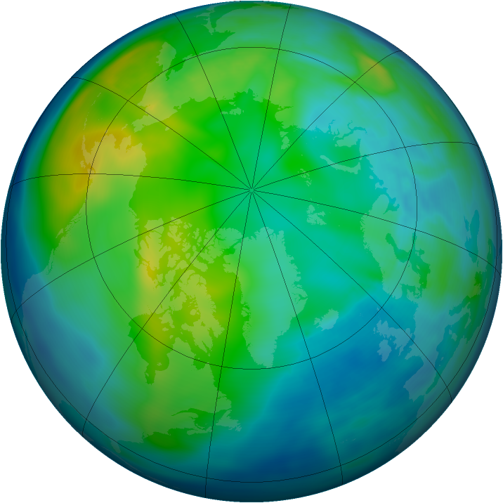 Arctic ozone map for 10 November 2007