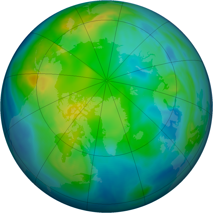 Arctic ozone map for 17 November 2007