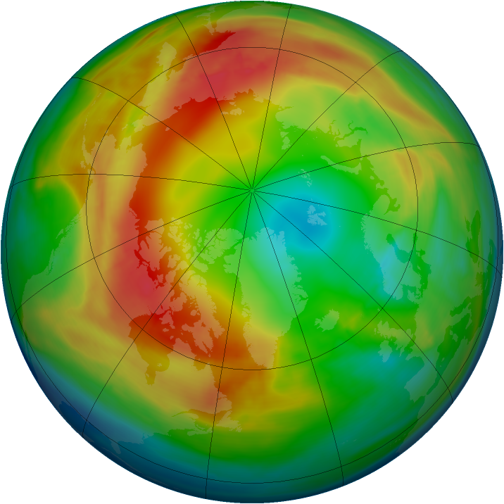 Arctic ozone map for 04 February 2008