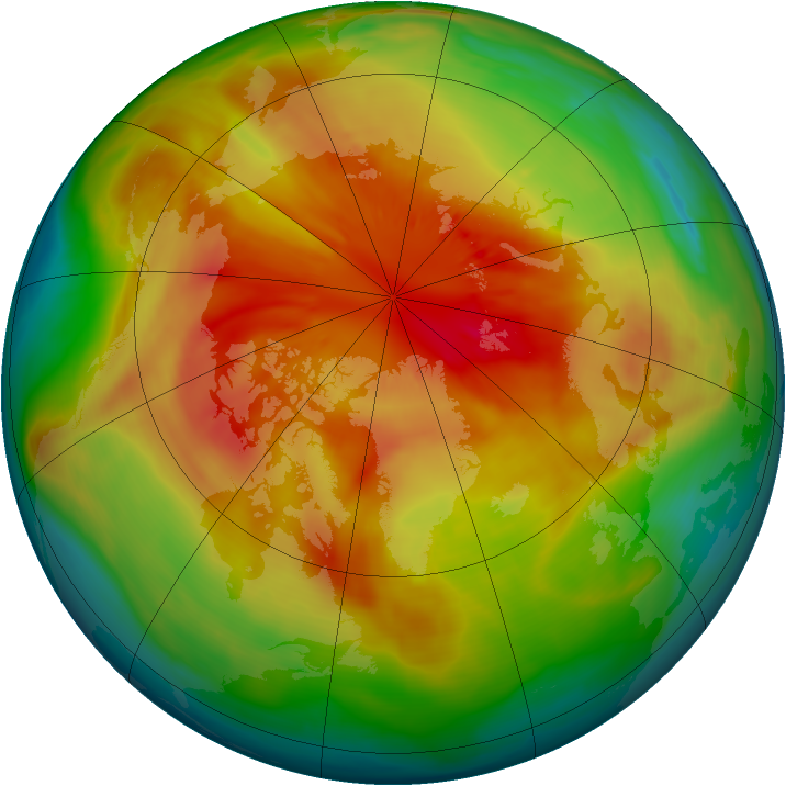 Arctic ozone map for 15 March 2008