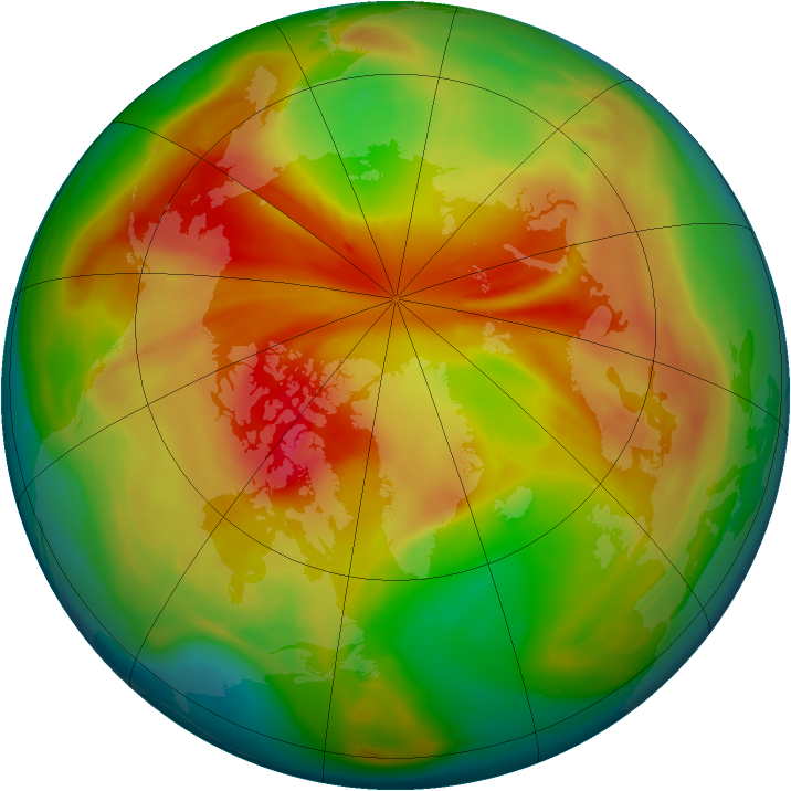 Arctic ozone map for 19 March 2008