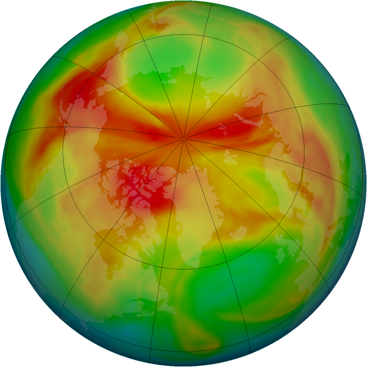 Arctic ozone map for 20 March 2008