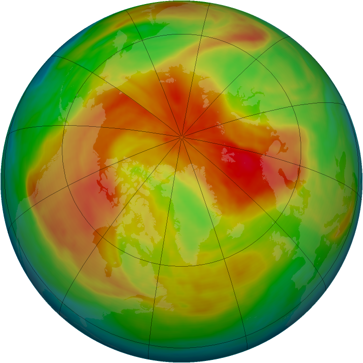 Arctic ozone map for 28 March 2008