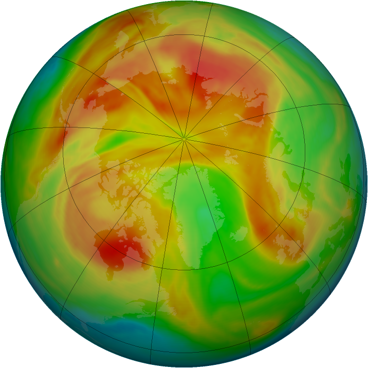 Arctic ozone map for 06 April 2008