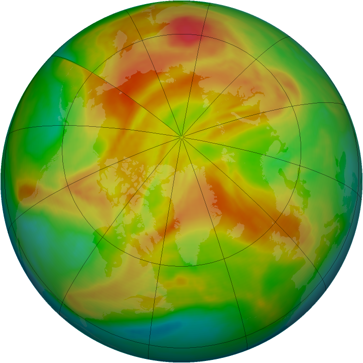 Arctic ozone map for 14 April 2008