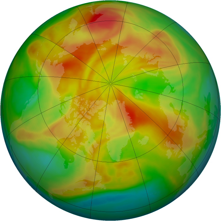 Arctic ozone map for 15 April 2008