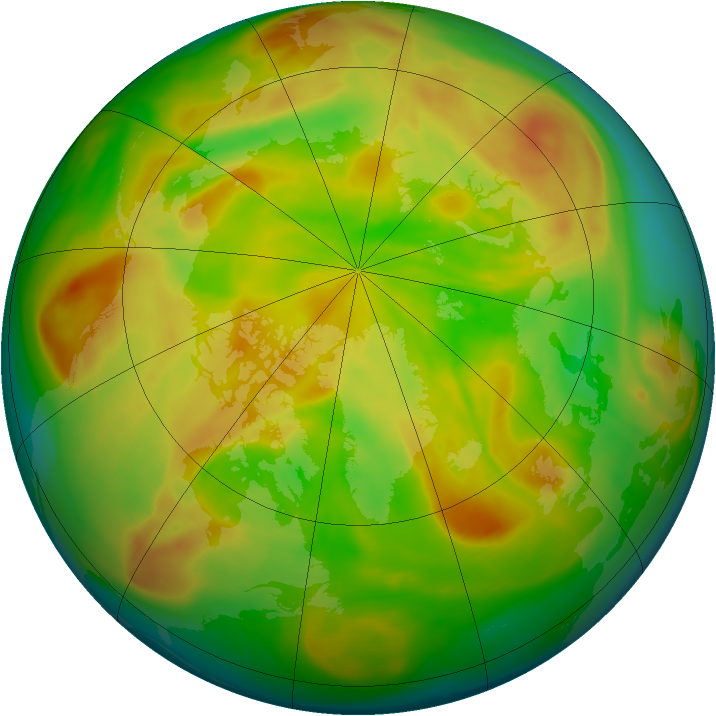 Arctic ozone map for 28 April 2008
