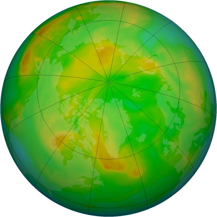 Arctic ozone map for 01 June 2008