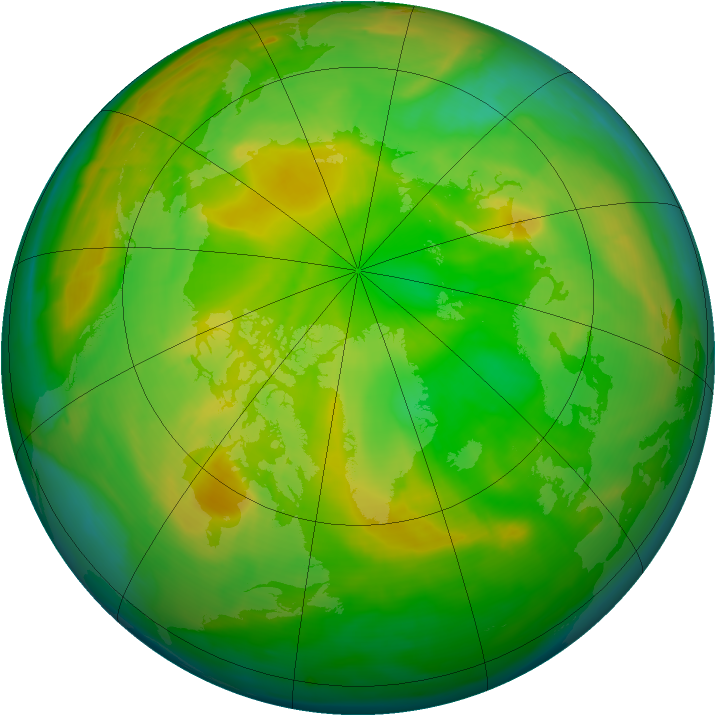 Arctic ozone map for 02 June 2008