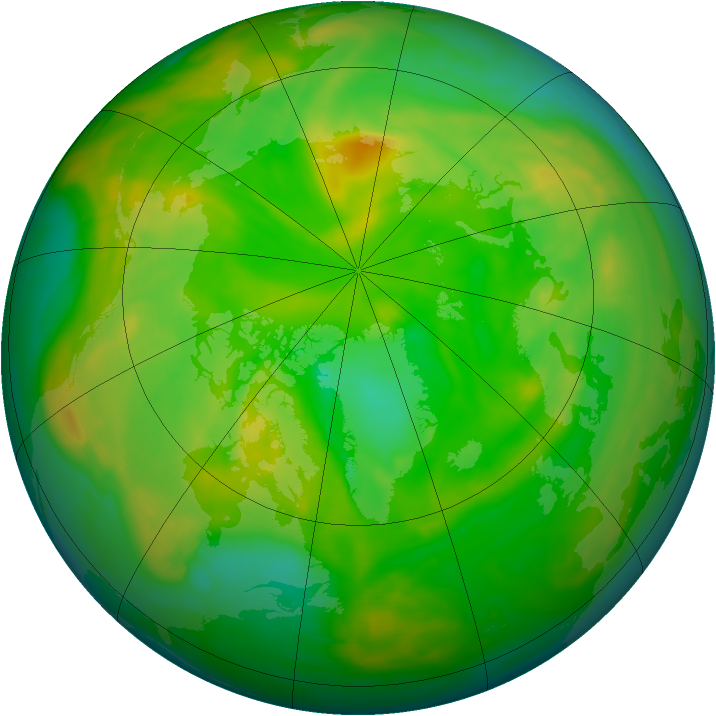Arctic ozone map for 10 June 2008