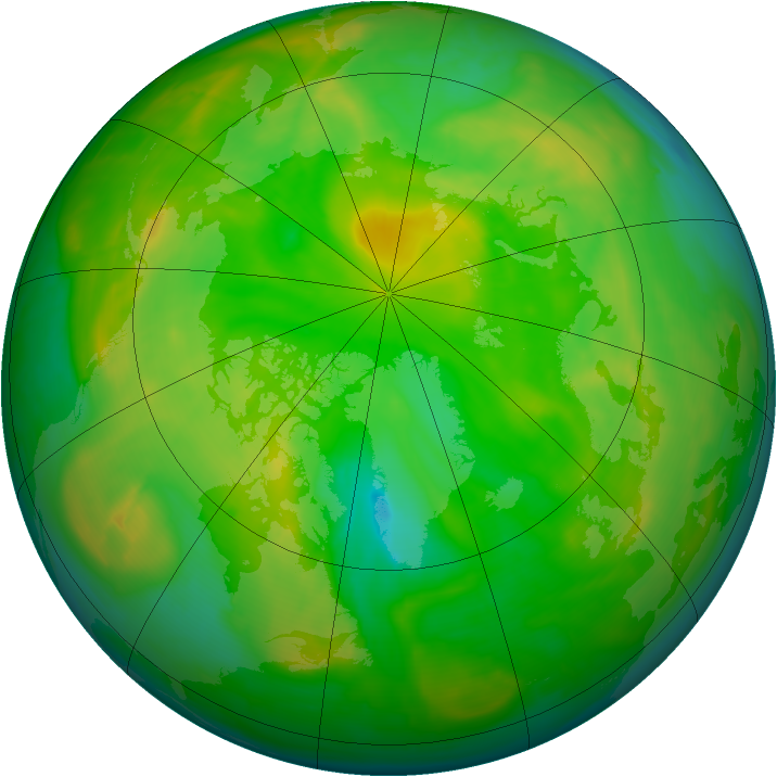 Arctic ozone map for 12 June 2008