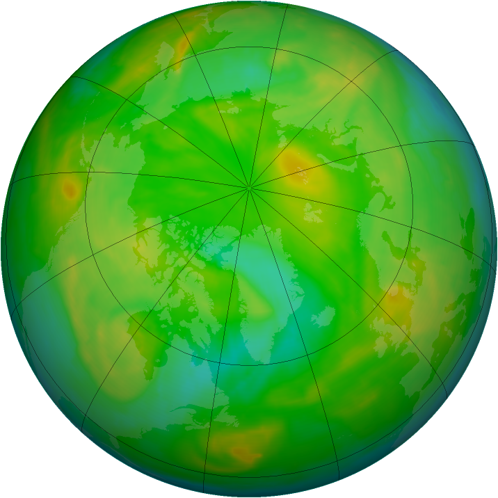 Arctic ozone map for 14 June 2008