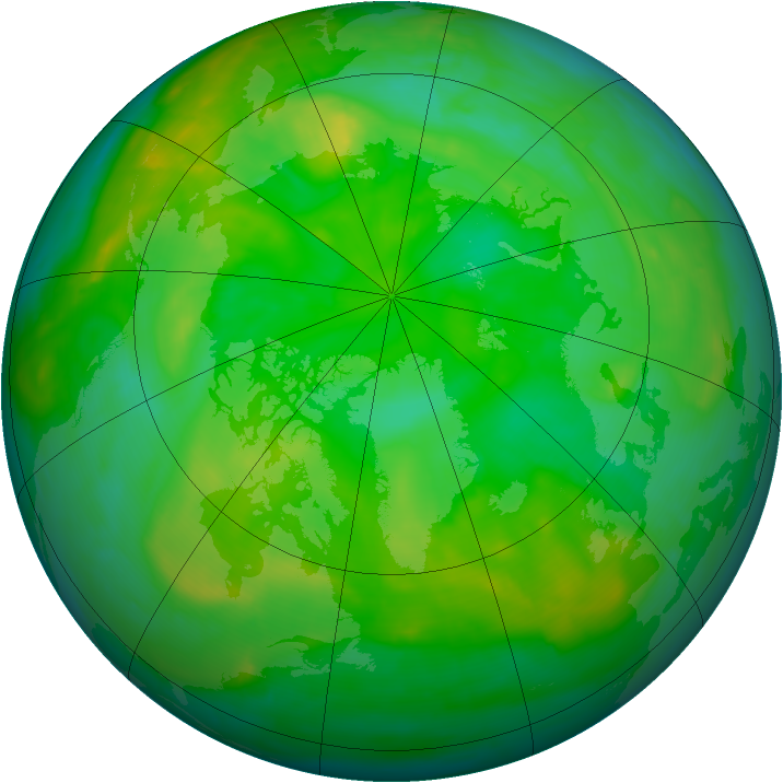 Arctic ozone map for 02 July 2008